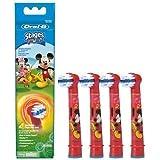 Braun Oral-B Stages Power Kids EB10-4K Lot de 4 têtes de brosse à dents électrique pour enfants Mickey Mouse