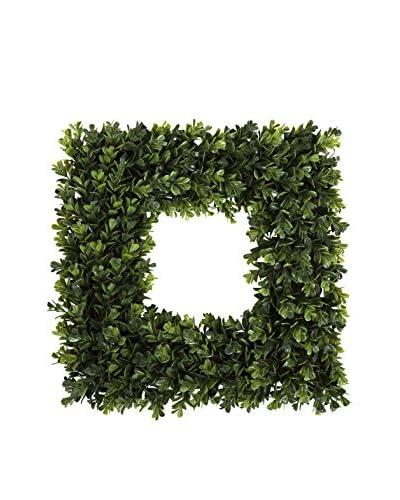 Pure Garden 16.5 Square Boxwood Wreath