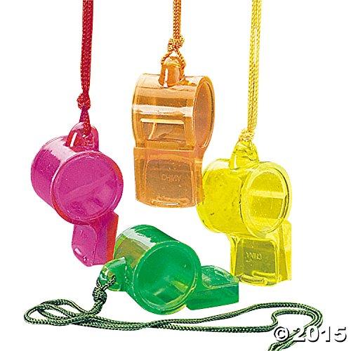 Transparent Whistles (1 dz)