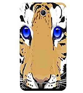 Fuson 3D Printed Tiger Face Designer back case cover for Sony Xperia E4 - D4502