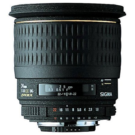 The Electronics World |   Sigma 24mm f/1.8 EX DG Aspherical Macro Large Aperture Wide Angle Lens for Canon SLR Cameras