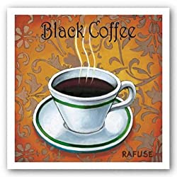 Black Coffee by Will Rafuse 8.5&quot;x8.5&quot; Art Print Poster