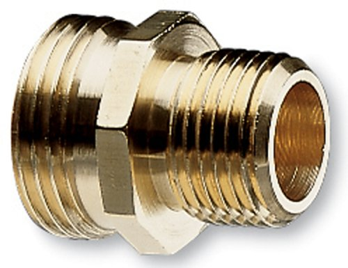 Nelson Industrial Brass Pipe and Hose Fitting for Female 1/2-Inch NPT to Female Hose, Double Male 50570 banjo hb150 125 90 polypropylene hose fitting 90 degree elbow 1 1 2 npt male x 1 1 4 barbed