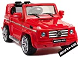 Mercedes Benz G55 AMG Ride-On Car for Kids, 12V Battery Powered (Red) with Remote - LICENCED DESIGN