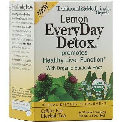 Traditional Medicinals Ay29173 Traditional Medicinals Everyday Organic Lemon Detox -6X16 Bag