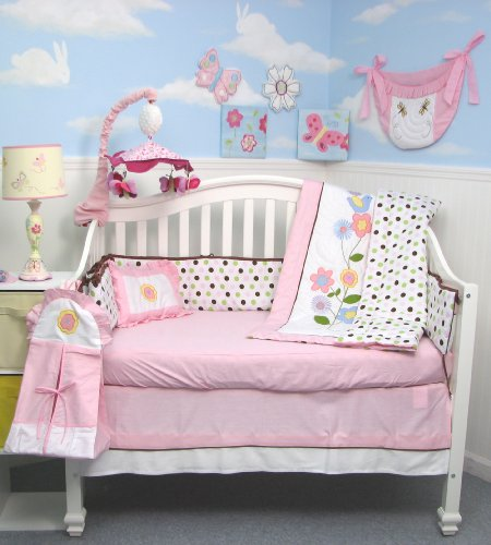 SoHo Victorian Flower Tree Crib Nursery Bedding Set 10 pcs