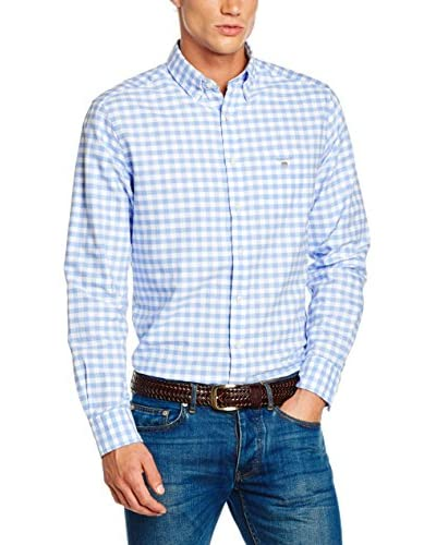 GANT Hemd The Oxford Gingham Reg Bd blau