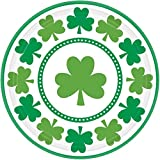 Amscan Lucky Shamrocks 9in Party Dinner Plates-8 count