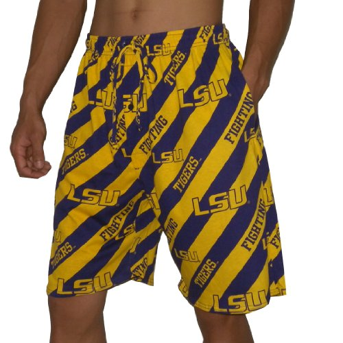 NCAA Mens LSU Tigers Cotton Sleepwear / Pajama Shorts - Multicolor (Size: 2XL) at Amazon.com