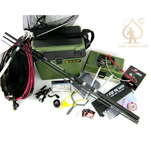 Beginners Starter Coarse Float <strong>Fishing Kit Set< strong> - 10ft Carbon Rod, Reel, Seat Box & Tackle