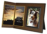 """Her Journey's Just Begun"" Poem Pet Loss Sympathy Picture Frame Gift and Memorial Keepsake, Includes custom photo editing option"