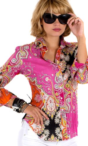 Pink Ornamental Paisley print shirt