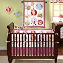 Bedtime Originals Tutti Frutti 4 Piece Crib Set Hot Pink