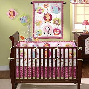 Bedtime Originals Tutti Frutti 4 Piece Crib Set, Hot Pink