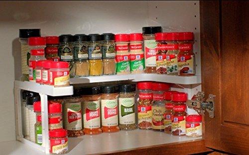 Spicy Shelf 64 Spice Jar Rack. Stackable Organizer Storage Cabinet RV Trailer