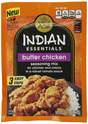 Indian Essentials Seasoning Mix, Butter Chicken, .9 Ounce (Pack of 12) (Chicken Tikka Spice compare prices)