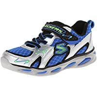 Skechers Kids Ipox Rayz Light-Up Sneaker Silver/Royal 3 M US Little Kid