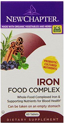 改善贫血,New Chapter新章 有机食物补铁片 60片图片