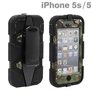 docomo au SoftBank iPhone5 iPhone5S 対応 Survivor プロテクション ケース カバー ジャケット MossyOak (ブラック×OBS×ブラック)