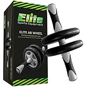 Ab Wheel - #1 Rated Ab Roller on Amazon - Smooth Workout - Comes Fully Assembled, Sturdy and Very Durable.