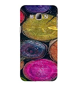 PrintVisa Colorful Tree Log Pattern 3D Hard Polycarbonate Designer Back Case Cover for Samsung Galaxy A8