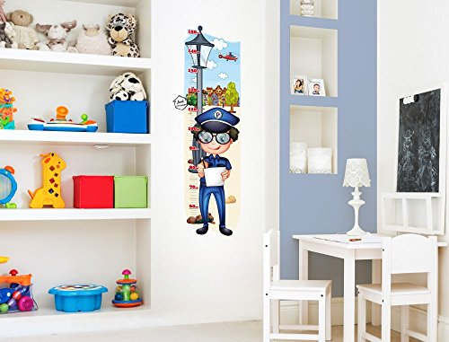 i love wandtattoo m 13 011 kinderzimmer messlatte polizei. Black Bedroom Furniture Sets. Home Design Ideas