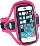 Armband for iPhone 5s, iPhone 5 and iPhone 5c; Also fits iPod touch 5G - Reflective Pink