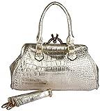 Advika Women's Handbag (Gold, AD602)
