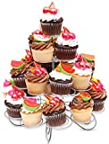 Cupcake Stand for Birthdays & All Occasions, 23 Count 4 Tier Cupcake Holder & for Other Desserts