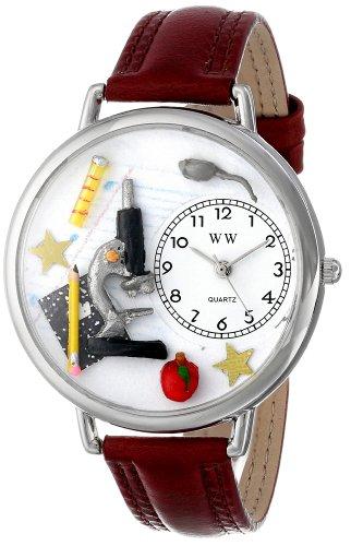 Whimsical Watches Unisex U0640004 Science Teacher Burgundy Leather Watch