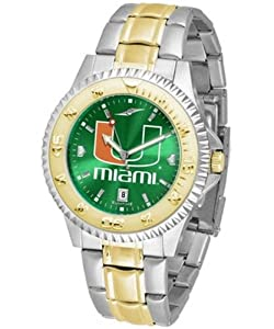 Miami Hurricanes UM NCAA Mens Two-Tone Anochrome Watch by SunTime