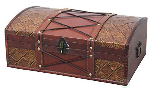 Vintiquewise(TM) Pirate Treasure Chest/Box with Leather X (Treasure Chest Basket compare prices)