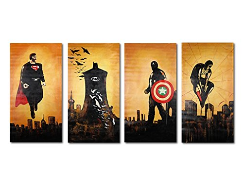 Super Hero Wall Art, Raybre Art® 100%Hand Painted