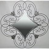 Ashton Sutton Shaped Metal Mirror With Silver Finish