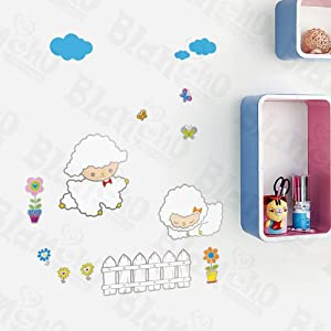Baby Sheep - Wall Decals Stickers Appliques Home Decor