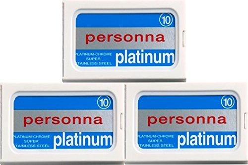 30 Personna - Platinum (Israeli Reds) Double Edge Razor Blades (Personna Blades Double Edge compare prices)