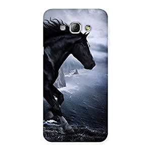 Premier Black Horse Back Case Cover for Galaxy A8