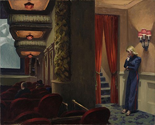 The Museum Outlet - Edward Hopper - New York Movie - Canvas Print Online Buy (24 X 18 Inch) (Edward Hopper New York Movie compare prices)