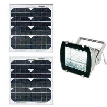 Projecteur solaire puissant 54 leds 330 lumens panneau 20w luminaires et eclairage - Projecteur solaire puissant ...