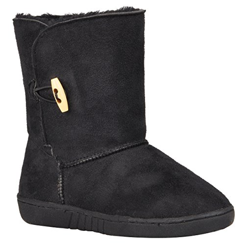 Journee Kids Girls Wood Toggle Accent Boots