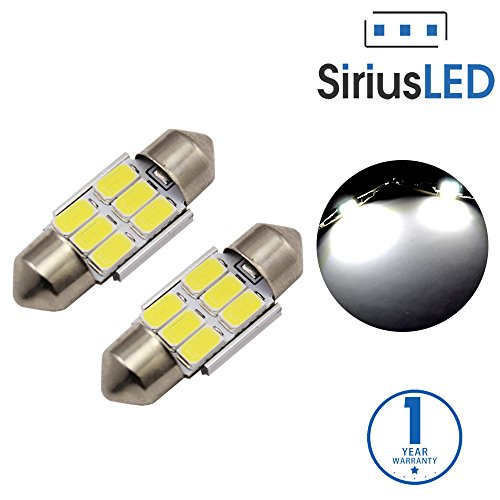 SiriusLED 5730 Chip Super Bright SMD LED Bulbs for Interior Car Lights Dome License Plate Door Courtesy 31MM Festoon 3175 DE3175 6418 6000K Xenon White (Geo Metro Headlight Door compare prices)