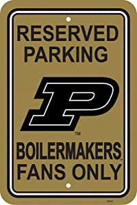 Buy NCAA Purdue Boilermakers 12-by-18 inch Plastic Parking Sign by BSI
