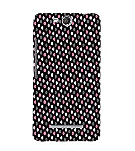 Brownish Pink Dotted 3D Hard Polycarbonate Designer Back Case Cover for MicromaxBoltQ338