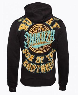 Yakuza Herren Sweat Hoodie Sweatshirt Pullover HOB 327, Größe:S;Farbe:schwarz