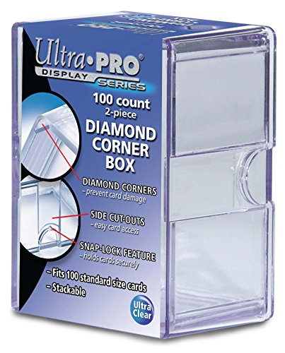 Ultra Pro 100-Count Plastic Box with Diamond Corners