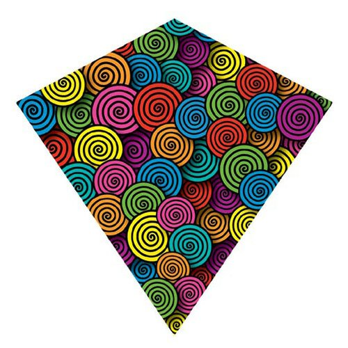 X Kites ColorMax Nylon Multi-Colored Swirls Kite-25 Inch - 1