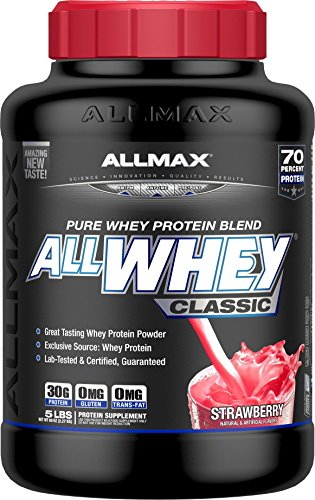 ALLMAX ALLWHEY CLASSIC Pure Whey Protein Blend, Amazing Taste, Strawberry Flavor, 5 Pound