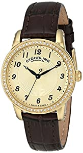 Stuhrling Original Women's 651.02 Symphony Analog Display Swiss Quartz Brown Watch