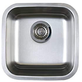 Blanco BL441026 BlancoStellar Bar Bowl Undermount Sink, Refined Brushed