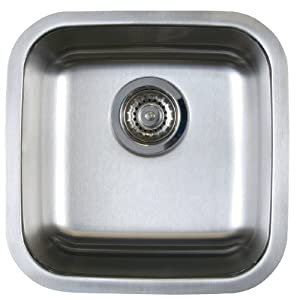 Blanco BL441026 BlancoStellar Bar Bowl Undermount Sink, Refined Brushed